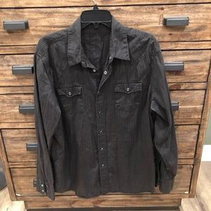 Other - Men's Gray Button Down Shirt Size Large